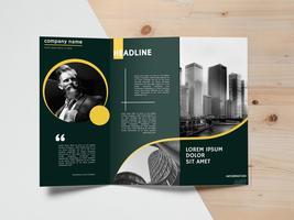 Brochure sjabloonontwerp vector