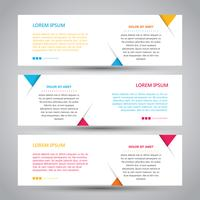 Eenvoudige drie kleuren abstracte Banner