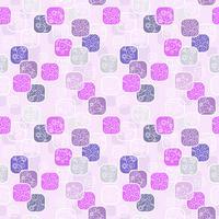 Vector naadloos patroon met romantische bloemenachtergrond. Subtiele pasteltinten en elegant lineair ornament.