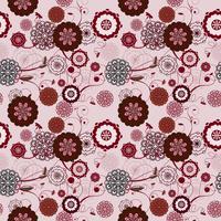 Vector naadloos patroon met romantische bloemenachtergrond. subtiel