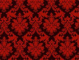 luxe decoratieve achtergrond. Rood damast bloemenpatroon. Koninklijk behang. vector