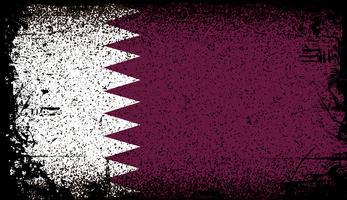 Vlag van qatar Grunge. vector achtergrond illustratie