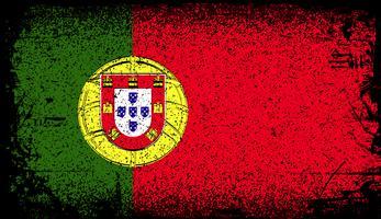 Portugal Grunge vlag vector