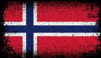 Noorwegen Grunge vlag vector