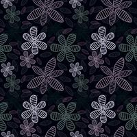 Zoete bloemen naadloze patroonachtergrond Romantische achtergrond. Vector illustratie.