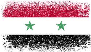 Syrië Grunge vlag vector