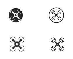 Drone logo en symbool vectorillustratie