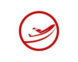 Vliegtuig vlieg logo en symbolen vector sjabloon