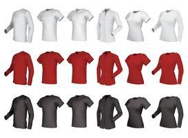 Geplaatste polo, overhemden en t-shirts.