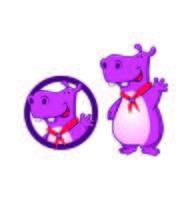 Hippo Fun Character Mascot logo-ontwerpen