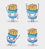 Fast food collectie kawaii cartoons
