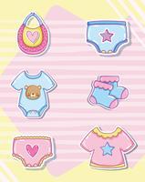 Schattige baby cartoons collectie