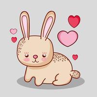 Schattig konijn doodle cartoon