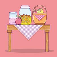 Zomersap en eten vector