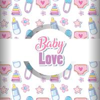 Baby liefde patroon achtergrond