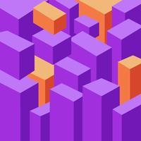 3D-geometrische kubusvormige achtergrond