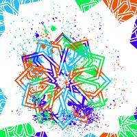 Islamitische ster achtergrond vector