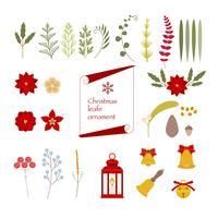 Kerst verschillende ornamenten.