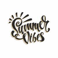 Summer vibes. Belettering. Kaart. Kalligrafie. Stijlvolle inspirerende inscriptie. Vector. vector
