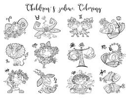 Sterrenbeelden voor kinderen. Coloring. Vector illustratie