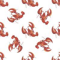 Naadloos patroon. Kreeft. Kanker. Seafood. Ontwerp. Vector illustratie.
