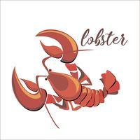 Kreeft. Kanker. Seafood. Ontwerp. Vector illustratie.