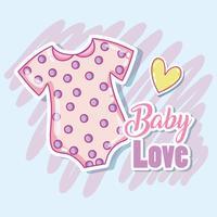 Schattige babykleding vector