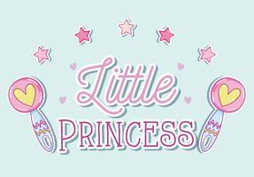 Kleine prinses leuke cartoons vector