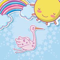 Schattige baby cartoons vector