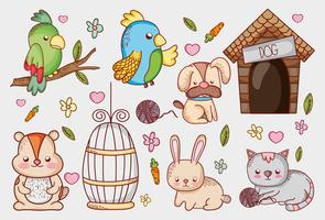 Dierenwinkel cartoons vector