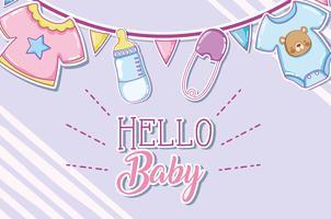Hallo babykaart vector