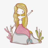Kleine zeemeermin cartoon vector