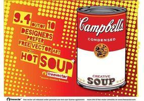 Pop Art Soep vector
