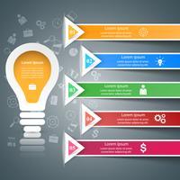 Infographic ontwerp. Bulb, licht pictogram. vector