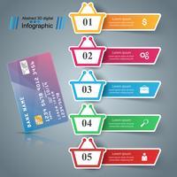 Winkel infographic. Marketing pictogram. Kopen en verkopen