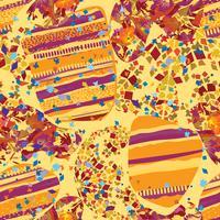 Abstract mozaïek blad naadloze patroon. Lijnen en punten oosterse tegelachtergrond