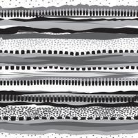 Gestreept native printontwerp. Grunge strepen naadloze patroon