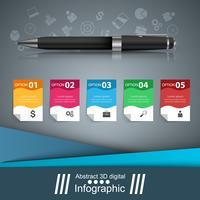 Pen, onderwijs pictogram. Zakelijke infographic. vector