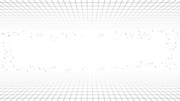 Monochrome minimale retro lijn achtergrond, stijl futuristische synth retro golf