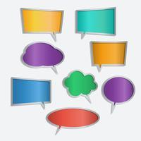 Vectorreeks pictogrammen van de de toespraakbel van de kleur