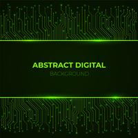 High-tech achtergrond van lijnen van de de kringsraad van de computer de groene gloeiende neon vector