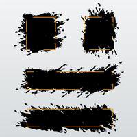 Vector set van trendy banners, headers van inkt penseelstreken te wijzigen