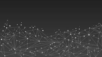 Geometrische abstracte moleculeachtergrond, zwart en wit