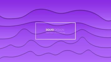 Abstract liqiud multi-lagen 3d ontwerp. Dynamisch conceptontwerp of stromende vloeibare illustratie voor websitemalplaatje. Papercut. vector