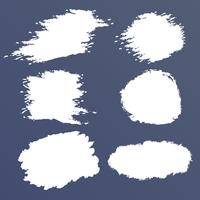 Witte grunge vectorreeks, borstelvlekken, slagen, banners vector