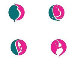 Zwangere embleemmalplaatje vectorpictogramillustratie vector