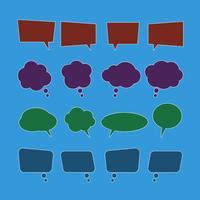 Vector set van spraak bubbel pictogrammen