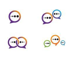 Toespraak bubble pictogram Logo sjabloon vectorillustratie vector