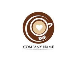 Koffiekopje Logo sjabloon vector pictogram