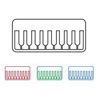Piano pictogram symbool teken vector